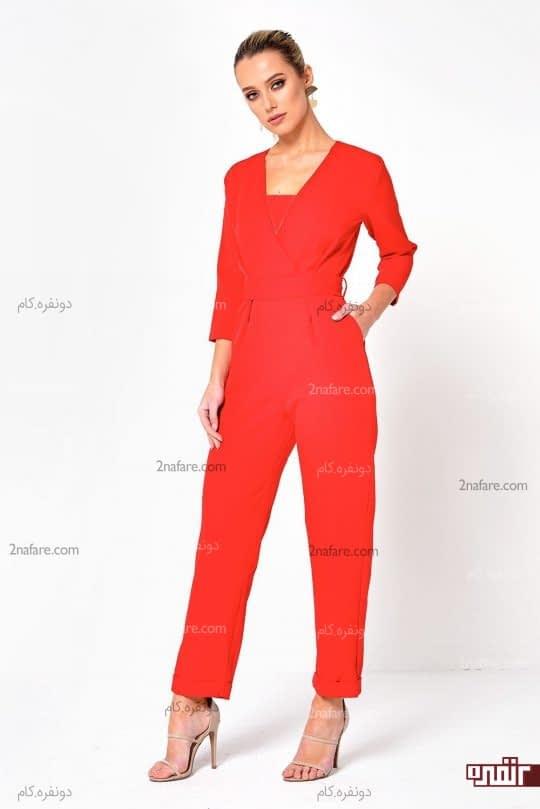 سرهمی رنگ قرمز گرم