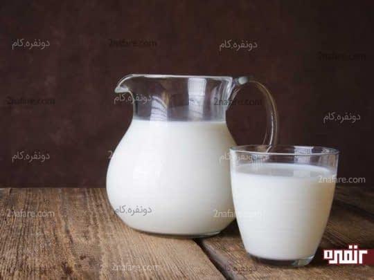 شیر برای تغذیه مو