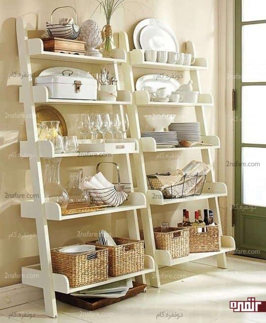 قفسه جادار برای ظروف آشپزخانه