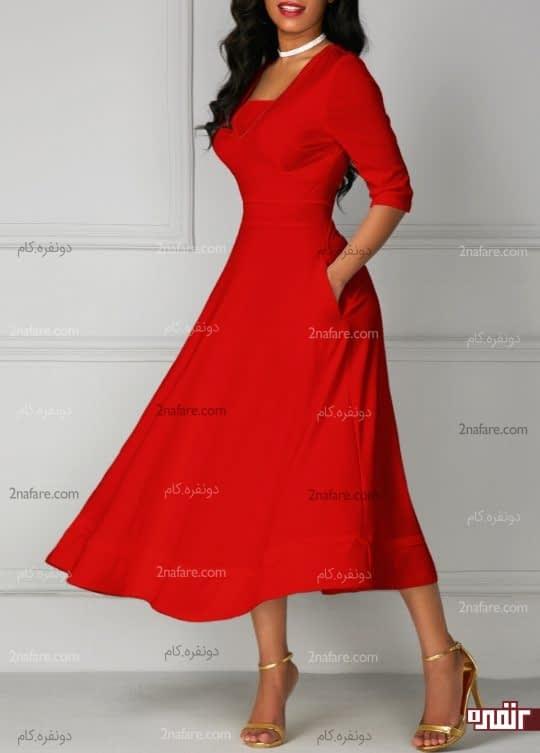 لباس قرمز رنگ گوجه ای