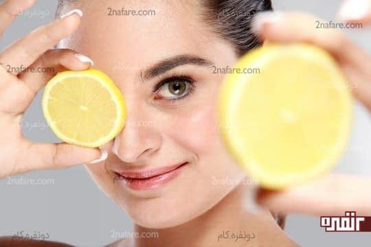 لیمو و پاک کردن لکه های آکنه