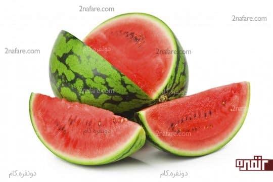 مرطوب کردن پوست با استفاده از هندوانه