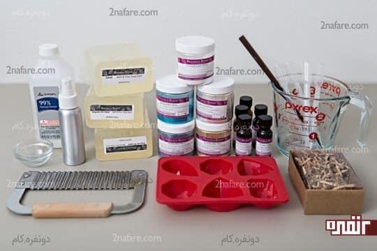 وسایل مورد نیاز برای درست کردن صابون