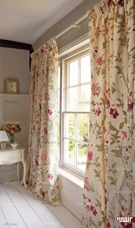پرده های شاد و گلدار مناسب دکور بهار و تابستانه