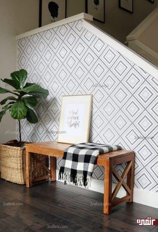 کاغذ دیواری با طرح های هندسی