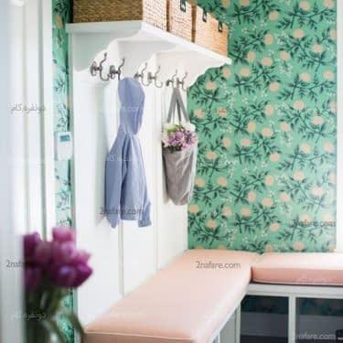 کاغذ دیواری سبز و خوش طرح