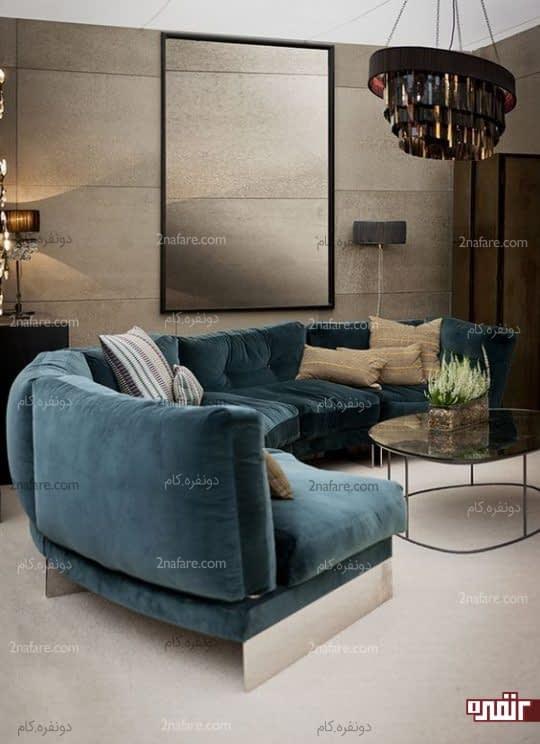 کاناپه های منحنی شکل