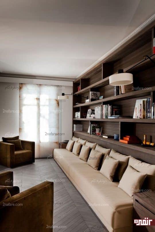 کاناپه های کشیده و طولانی مخصوص فضاهای باریک