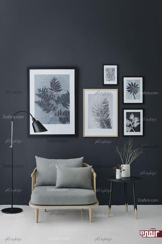 گالری دیواری الهام گرفته از گیاه شناسی