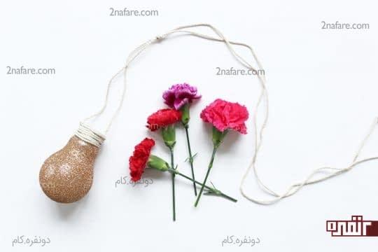 گلدان لامپی ساده و جذاب