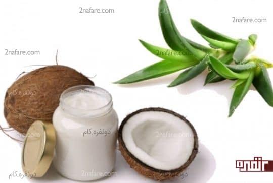 استفاده از آلوورا و نارگیل برای درخشان شدن پوست