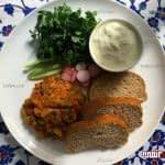 طرز تهیه خوراک بادمجان و سبزیجات مرحله به مرحله