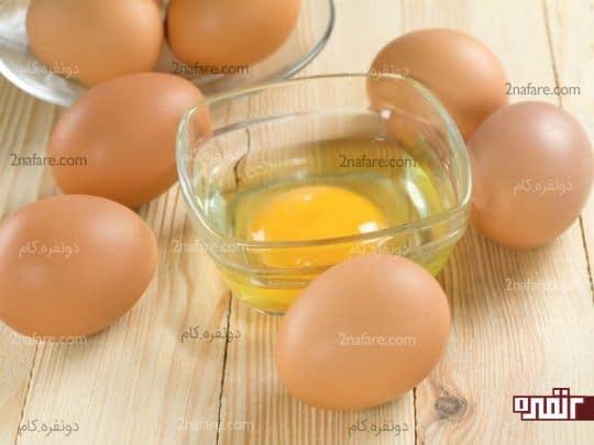 ماسک زرده تخم مرغ