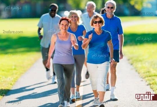 پیاده روی موثر بر هورمون سروتونین