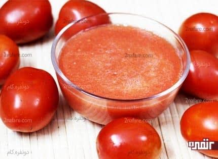 استفاده از آلوورا و پالپ گوجه فرنگی برای زدودن کثیفی های پوست