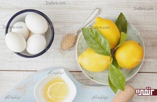 تهیه ماسک مرطوب کننده به وسیله آب لیمو و تخم مرغ