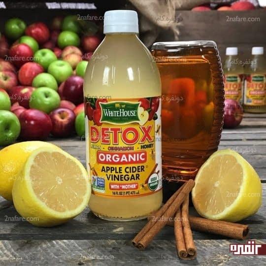آب لیمو و سرکه سفید برای درمان شوره سر