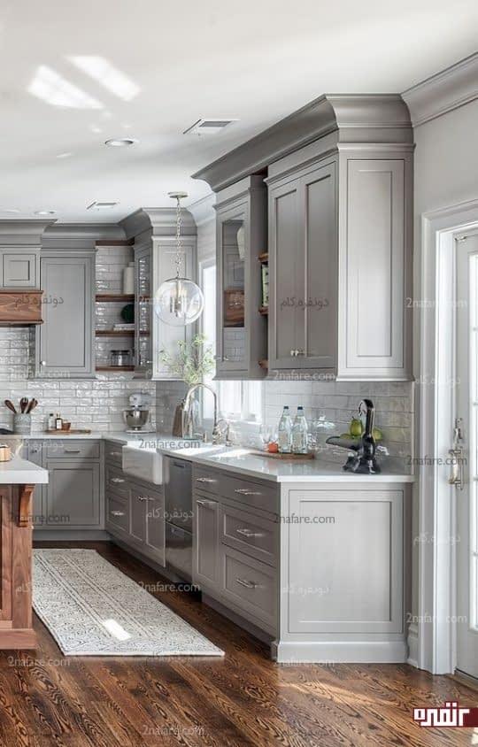 آشپزخونه خاکستری و شیک