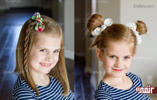 آموزش دوخت کش مو گره ای و چند مدل موی کودکانه