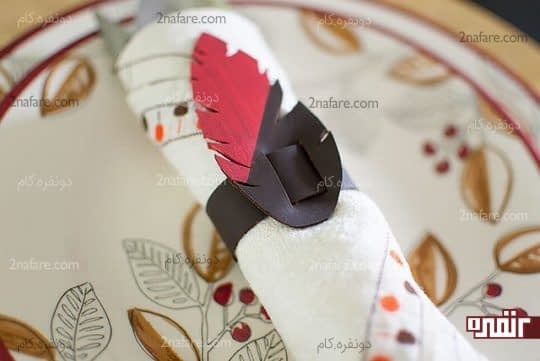 آموزش ساخت حلقه دستمال سفره با چرم