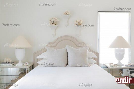 اتاقی آرام و دوست داشتنی به رنگ سفید