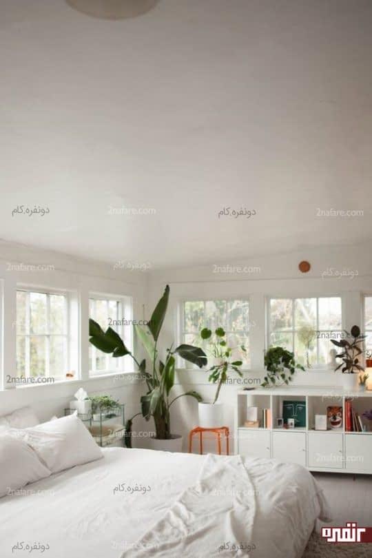 اتاق خواب تابستانه با رنگهای روشن و لایت