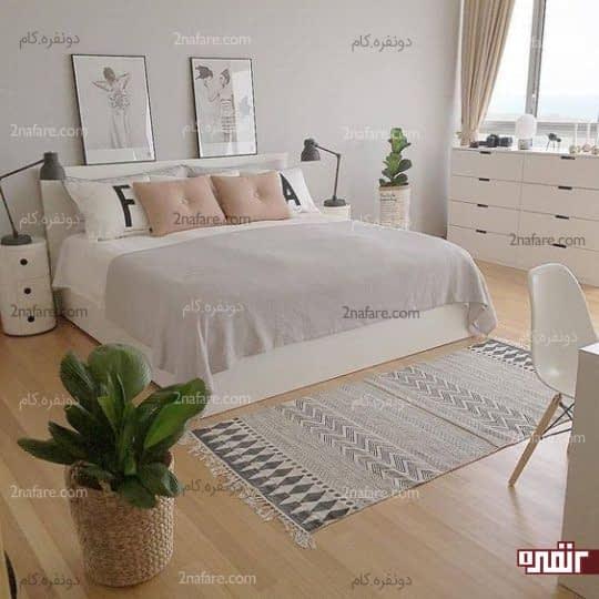 اتاق خواب تابستونه با تهویه مناسب و لوازم ضروری