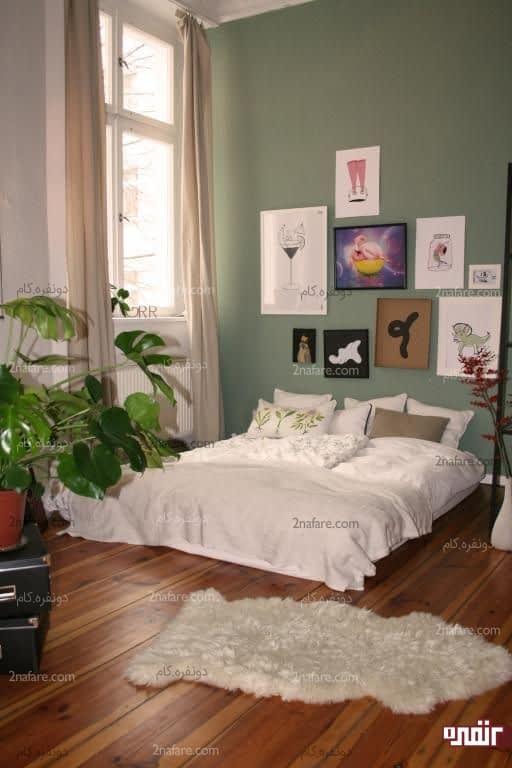 اتاق خواب تابستونه با پرده و منسوجات مناسب