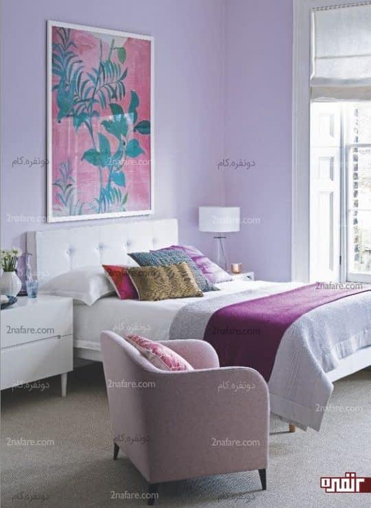اتاق خواب رمانتیک بنفش