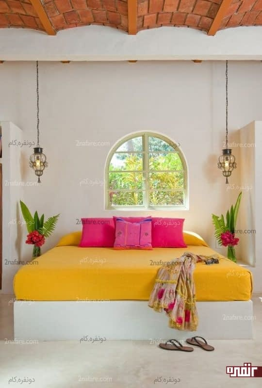 اتاق خواب مرتب و تابستونه