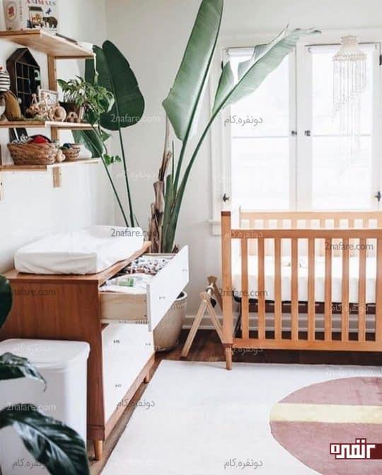 اتاق خواب پسرونه با مبلمان چوبی و رنگ قهوه ای