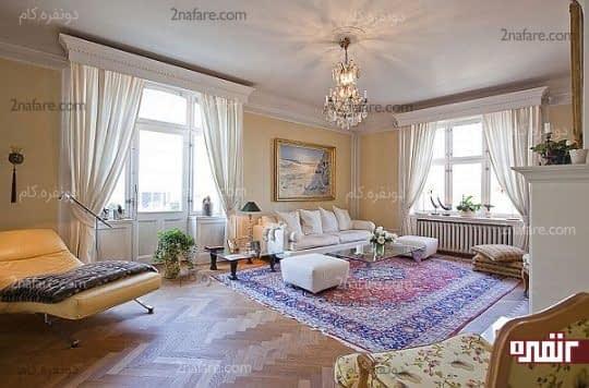 اتاق نشیمن آرام و پر انرژی برای استراحت روزانه