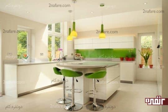 اثاثه و اکسسوری های سبز رنگ