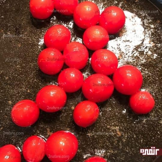 تفت دادن گوجه گیلاسی