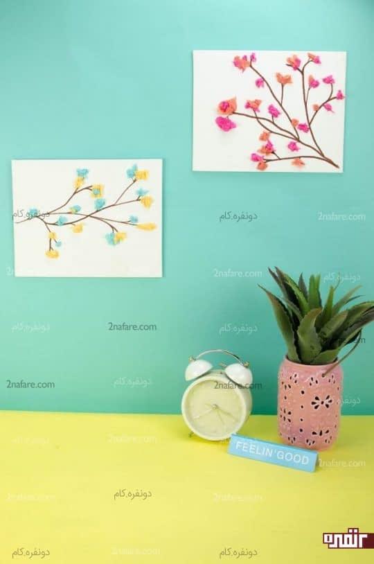 تابلوی شکوفه های کاغذی