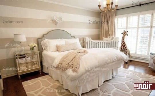 تخت خواب والدین و نوزاد در کنار هم