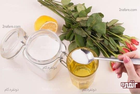 ترکیب شکر و آب لیمو برای طراوت گل