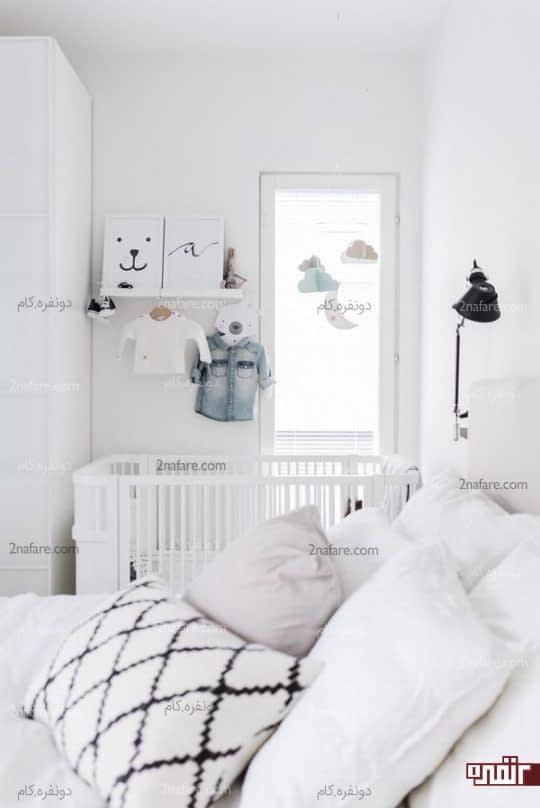 تزیینات با رنگ های خنثی برای هماهنگی با اتاق والدین