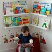 تزیین اتاق کودک با کتاب