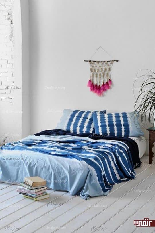 تزیین دکور تابستانه اتاق خواب به سبک بوهو و رنگهای زیبا
