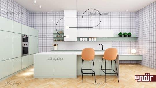 تناسب زیبای رنگها در آشپزخانه مدرن