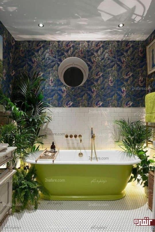 حمام سبز و زیبا