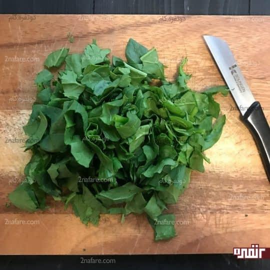 خورد کردن سبزی
