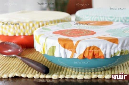 آموزش دوخت درپوش پارچه ای برای ظروف آشپزخونه