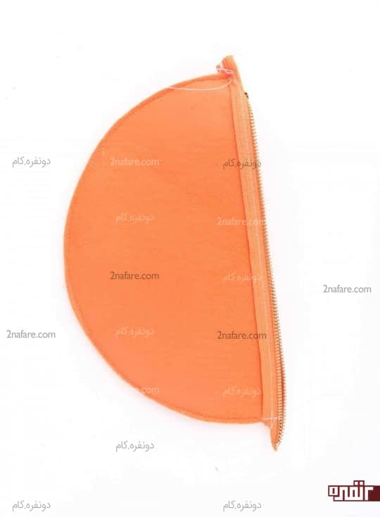 دوختن دور کیف نمدی پرتقالی