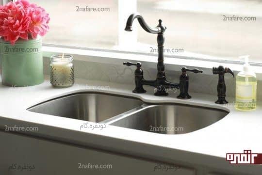 رفع گرفتگی سینک ظرفشویی بوسیله دو ماده کاملا طبیعی
