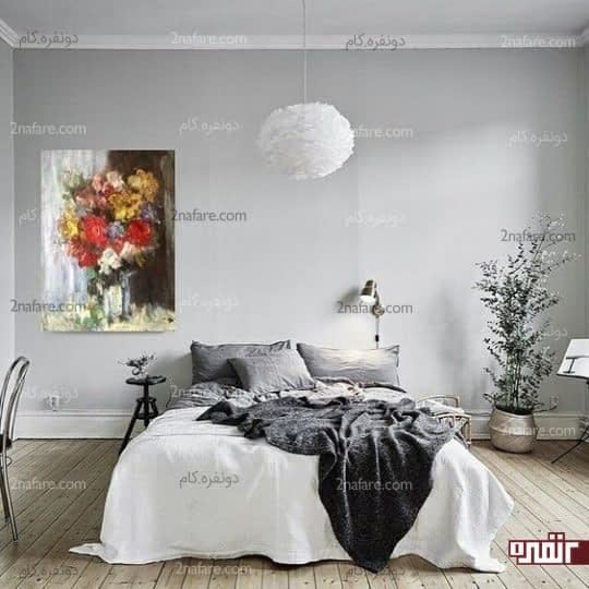 رنگهای ملایم و تابستانه برای اتاق خواب
