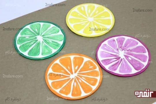 رنگ کردن زیر لیوانی ها