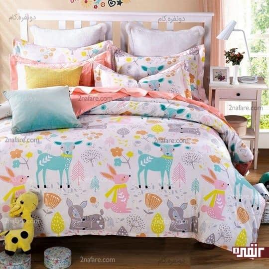 روتختی با طرحی فانتزی و رنگارنگ برای اتاق خواب دخترانه