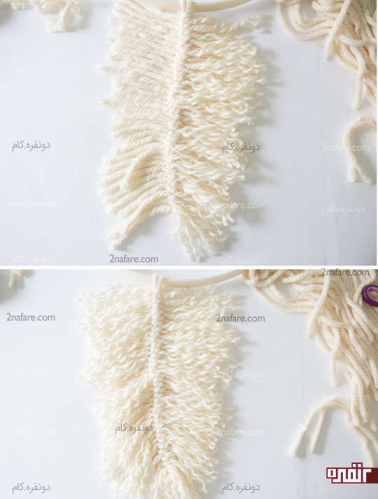 ریش ریش کردن تارهای نخ